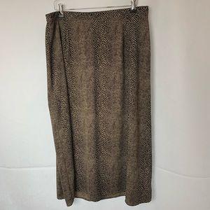 Crazy Horse Cheetah Print Maxi Skirt